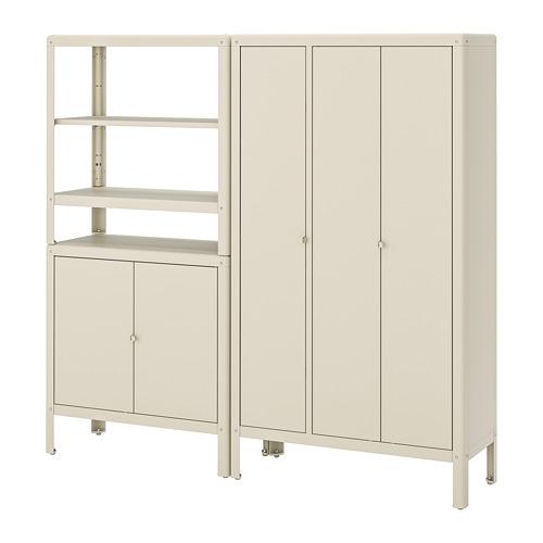 KOLBJÖRN - shelving unit with 2 cabinets, beige | IKEA Hong Kong and Macau - PE718476_S4