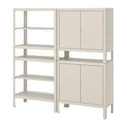 KOLBJÖRN - 層架組合連2個貯物櫃, 米黃色 | IKEA 香港及澳門 - PE718487_S3