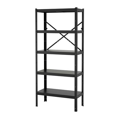 BROR - shelving unit, 85x40x190 cm, black | IKEA Hong Kong and Macau - PE718504_S4