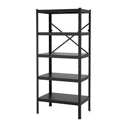 BROR - 層架組合, 85x55x190 cm, 黑色 | IKEA 香港及澳門 - PE718506_S3