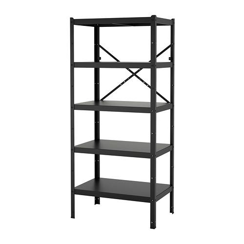 BROR - 層架組合, 85x55x190 cm, 黑色 | IKEA 香港及澳門 - PE718506_S4