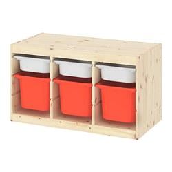 TROFAST - 貯物組合連物盒, light white stained pine white/orange | IKEA 香港及澳門 - PE781664_S3