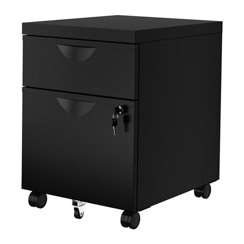 ERIK - 兩層抽屜活動組合, 黑色   IKEA 香港及澳門 - PE615869_S4