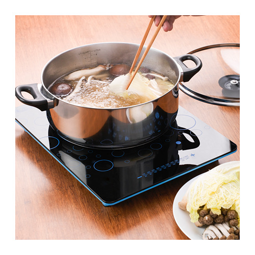 ANNONS pot for hot pot 5L, glass/stainless steel