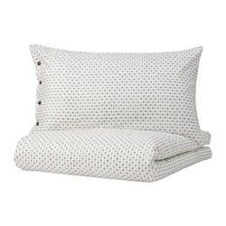 VÄGTÅG - quilt cover and 2 pillowcases, white/dark brown, 200x200/50x80 cm   IKEA Hong Kong and Macau - PE781747_S3