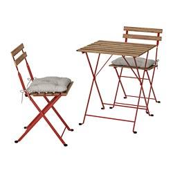 TÄRNÖ - 戶外餐檯椅組合, red/light brown stained/Kuddarna grey | IKEA 香港及澳門 - PE757713_S3