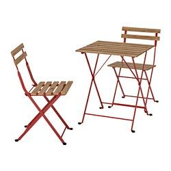 TÄRNÖ - 戶外餐檯椅組合, 紅色/染淺褐色 | IKEA 香港及澳門 - PE757709_S3