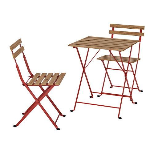 TÄRNÖ - 戶外餐檯椅組合, 紅色/染淺褐色 | IKEA 香港及澳門 - PE757709_S4