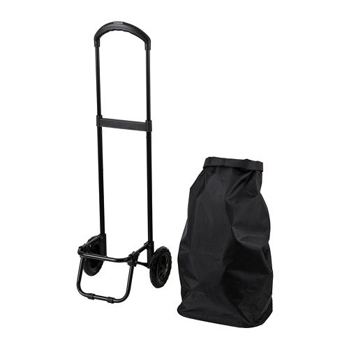 RADARBULLE - shopping bag on wheels, 38L, black | IKEA Hong Kong and Macau - PE812954_S4