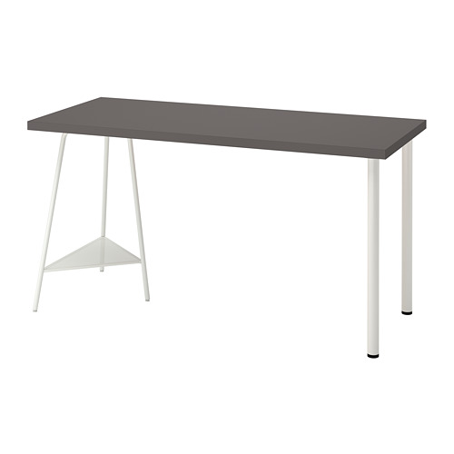 TILLSLAG/LAGKAPTEN - 書檯, 140x60cm, 深灰色/白色 | IKEA 香港及澳門 - PE812974_S4