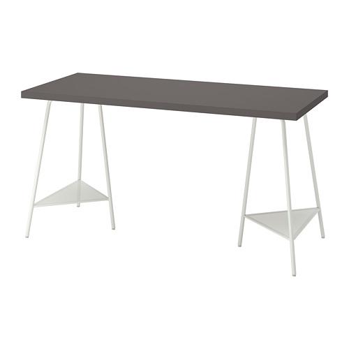 TILLSLAG/LAGKAPTEN - 書檯, 140x60cm, 深灰色/白色 | IKEA 香港及澳門 - PE812982_S4