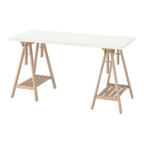 LAGKAPTEN/MITTBACK - desk, white/birch | IKEA Hong Kong and Macau - PE813002_S4