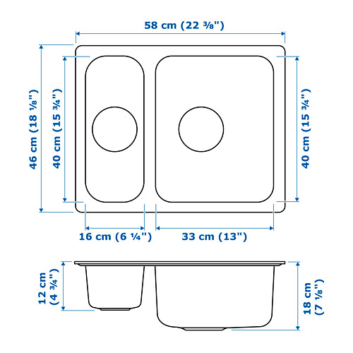 HILLESJÖN - 子母星盆, 不銹鋼 | IKEA 香港及澳門 - PE718597_S4