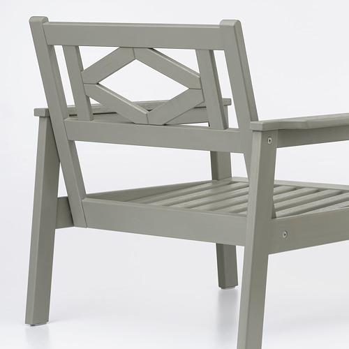 BONDHOLMEN - armchair, outdoor, grey stained | IKEA Hong Kong and Macau - PE757716_S4
