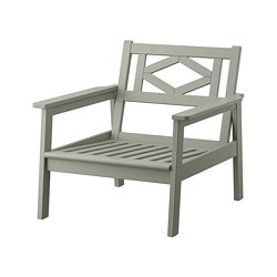 BONDHOLMEN - armchair, outdoor, grey stained | IKEA Hong Kong and Macau - PE757718_S3