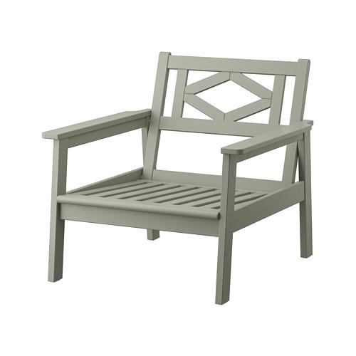 BONDHOLMEN - armchair, outdoor, grey stained | IKEA Hong Kong and Macau - PE757718_S4