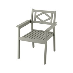 BONDHOLMEN - chair with armrests, outdoor, grey stained | IKEA Hong Kong and Macau - PE757727_S3