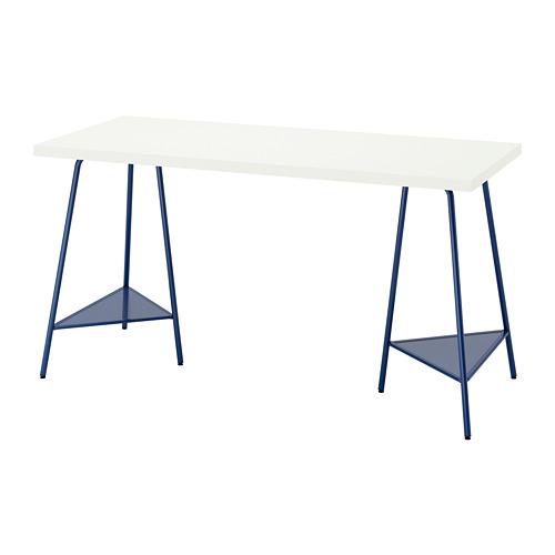TILLSLAG/LAGKAPTEN - desk, 140x60cm, white/dark blue | IKEA Hong Kong and Macau - PE812997_S4