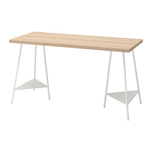 TILLSLAG/LAGKAPTEN - 書檯, 140x60cm, 染白橡木紋 白色 | IKEA 香港及澳門 - PE813006_S4