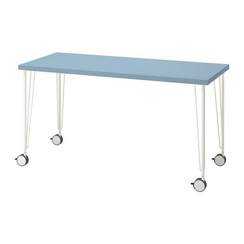 KRILLE/LAGKAPTEN - 書檯, 淺藍色/白色 | IKEA 香港及澳門 - PE813016_S4