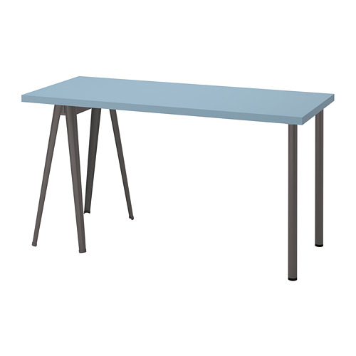 LAGKAPTEN/NÄRSPEL - 書檯, 淺藍色/深灰色 | IKEA 香港及澳門 - PE813018_S4