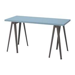 LAGKAPTEN/NÄRSPEL - desk, light blue/dark grey | IKEA Hong Kong and Macau - PE813019_S3