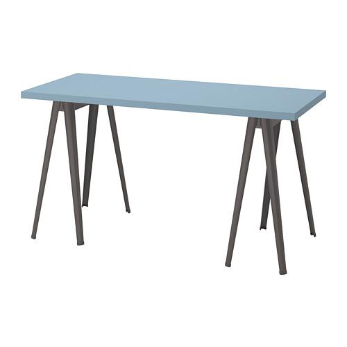 LAGKAPTEN/NÄRSPEL - desk, light blue/dark grey   IKEA Hong Kong and Macau - PE813019_S4