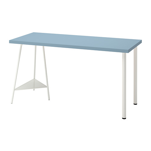 TILLSLAG/LAGKAPTEN - desk, light blue/white | IKEA Hong Kong and Macau - PE813027_S4