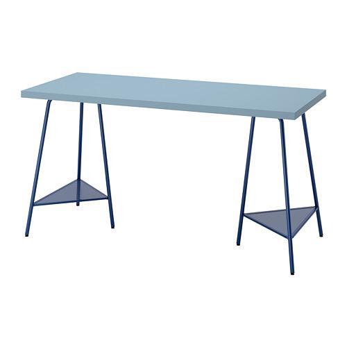 TILLSLAG/LAGKAPTEN - desk, light blue/dark blue | IKEA Hong Kong and Macau - PE813030_S4