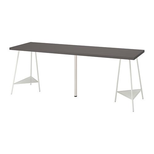 TILLSLAG/LAGKAPTEN - desk, 200x60cm, dark grey/white | IKEA Hong Kong and Macau - PE813047_S4