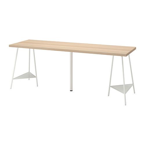 TILLSLAG/LAGKAPTEN - desk, 200x60cm, white stained oak/white | IKEA Hong Kong and Macau - PE813071_S4