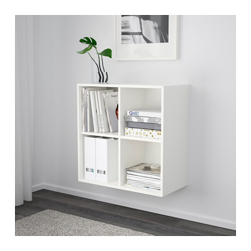 EKET wall-mounted shelving unit w 4 comp