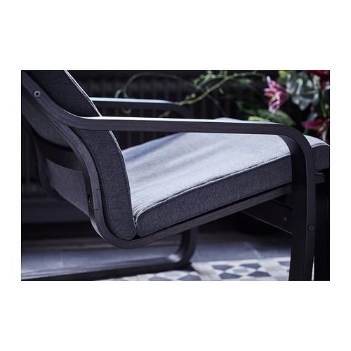 POÄNG - armchair, black-brown/Hillared anthracite   IKEA Hong Kong and Macau - PH150636_S4