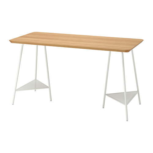 ANFALLARE/TILLSLAG - 書檯, 140x65cm, 竹/白色 | IKEA 香港及澳門 - PE813095_S4