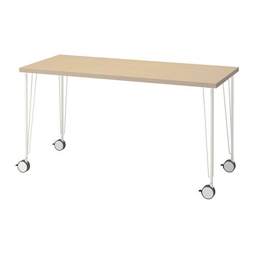 KRILLE/MÅLSKYTT - desk, 140x60cm, birch/white | IKEA Hong Kong and Macau - PE813103_S4
