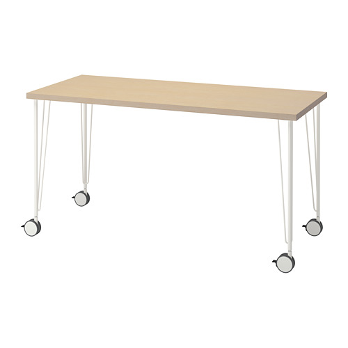 KRILLE/MÅLSKYTT - 書檯, 140x60cm, 樺木/白色 | IKEA 香港及澳門 - PE813103_S4