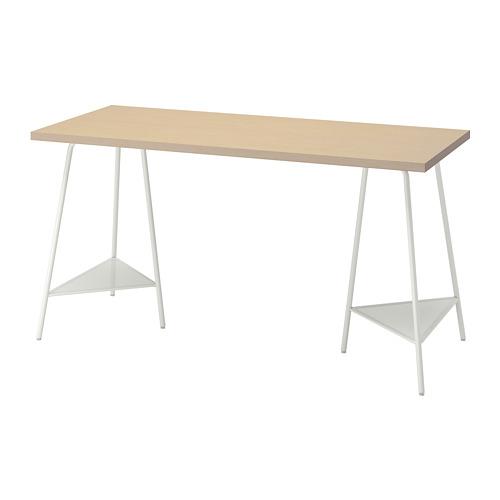 TILLSLAG/MÅLSKYTT - 書檯, 140x60cm, 樺木/白色   IKEA 香港及澳門 - PE813110_S4