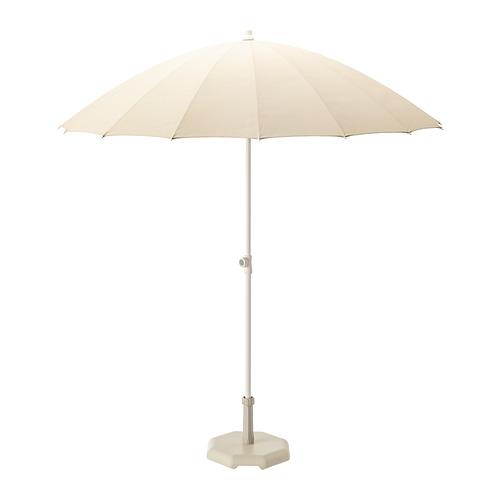 SAMSÖ - parasol with base, beige/Huvön grey-beige | IKEA Hong Kong and Macau - PE813115_S4