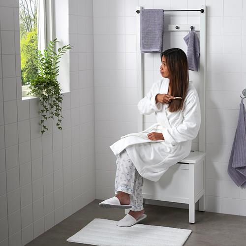 HEMNES - 貯物長几連毛巾架/4個掛鈎, 白色   IKEA 香港及澳門 - PE718615_S4
