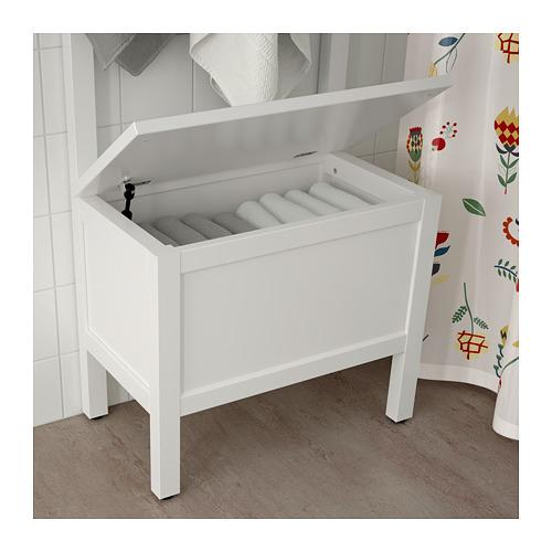 HEMNES - 貯物長几連毛巾架/4個掛鈎, 白色   IKEA 香港及澳門 - PE718616_S4