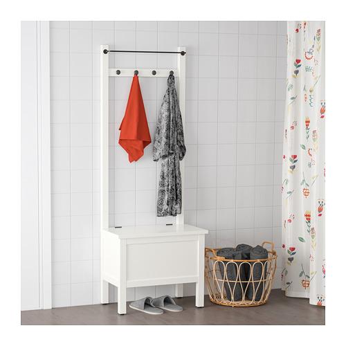 HEMNES - 貯物長几連毛巾架/4個掛鈎, 白色   IKEA 香港及澳門 - PE718617_S4
