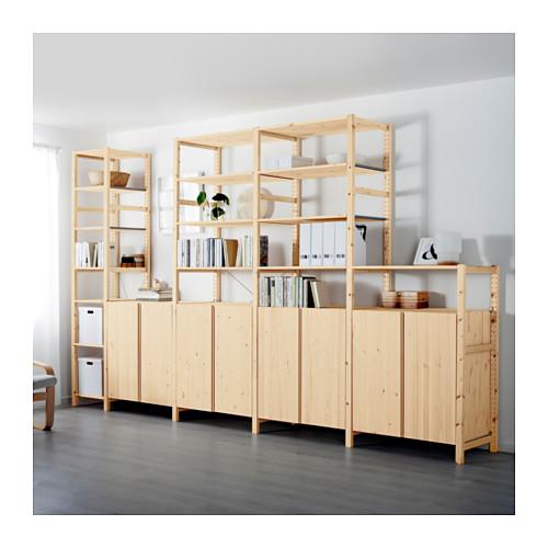 IVAR - 5 sections/shelves/cabinets, 389x50x226 cm, pine | IKEA Hong Kong and Macau - PE616343_S4