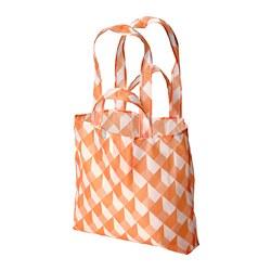 SKYNKE - 購物袋, 45x36 cm, 白色/橙色 | IKEA 香港及澳門 - PE813235_S3