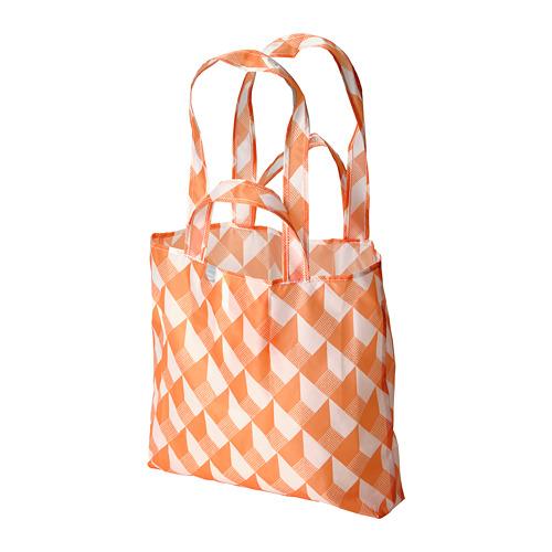 SKYNKE - 購物袋, 45x36 cm, 白色/橙色 | IKEA 香港及澳門 - PE813235_S4