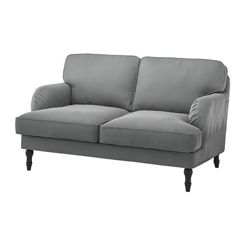 STOCKSUND - 2-seat sofa, Ljungen medium grey/black/wood | IKEA Hong Kong and Macau - PE758182_S4