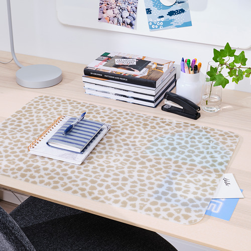 PLUGGHÄST - 書檯墊, 圖案 米黃色/透明   IKEA 香港及澳門 - PE814169_S4