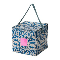 PLUGGHÄST - 貯物袋, 圖案 貓/藍色 米黃色 | IKEA 香港及澳門 - PE814174_S3