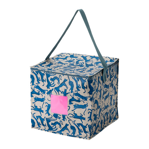PLUGGHÄST - storage bag, patterned cat/blue beige | IKEA Hong Kong and Macau - PE814174_S4