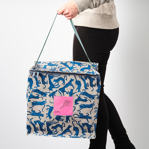 PLUGGHÄST - storage bag, patterned cat/blue beige | IKEA Hong Kong and Macau - PE814176_S4