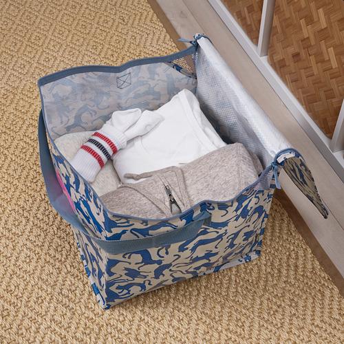 PLUGGHÄST - storage bag, patterned cat/blue beige | IKEA Hong Kong and Macau - PE814177_S4
